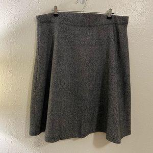 ModCloth Grey Wool Skirt